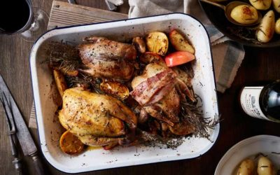 Pot Roast Pheasant with Cider & Apple